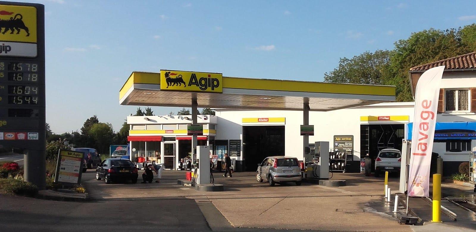 Station service AGIP en France